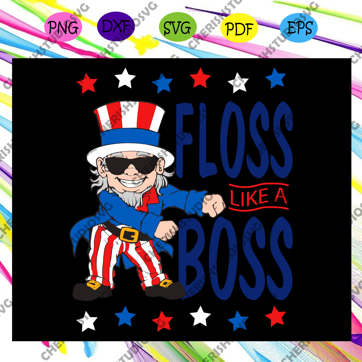Floss like a boss, independence day svg,4th of july,funny 4th of july,america flag,4th july gift,independence gift,america flag For Silhouette, Files For Cricut, SVG, DXF, EPS, PNG Instant Download