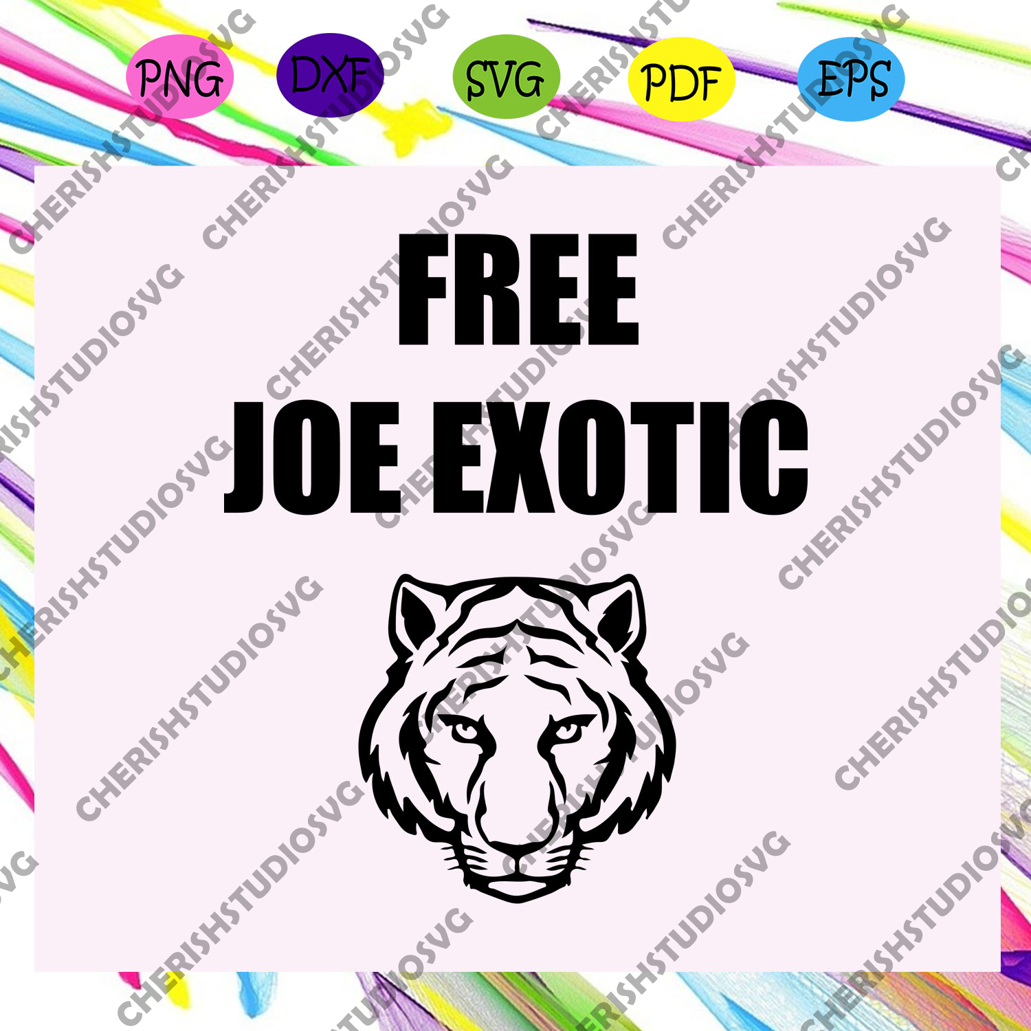 Free Joe Exotic, Joe Exotic for President svg, Joe Exotic For Silhouette, Files For Cricut, SVG, DXF, EPS, PNG Instant Download