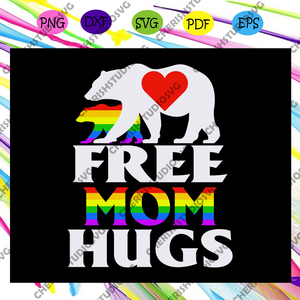 Free mom hugs, bear svg, rainbow svg,leseither way, lesbian gift,lgbt shirt, lgbt pride,gay pride svg, lesbian gifts,gift for bian love ,lgbt svg,Files For Silhouette, Files For Cricut, SVG, DXF, EPS, PNG, Instant Download