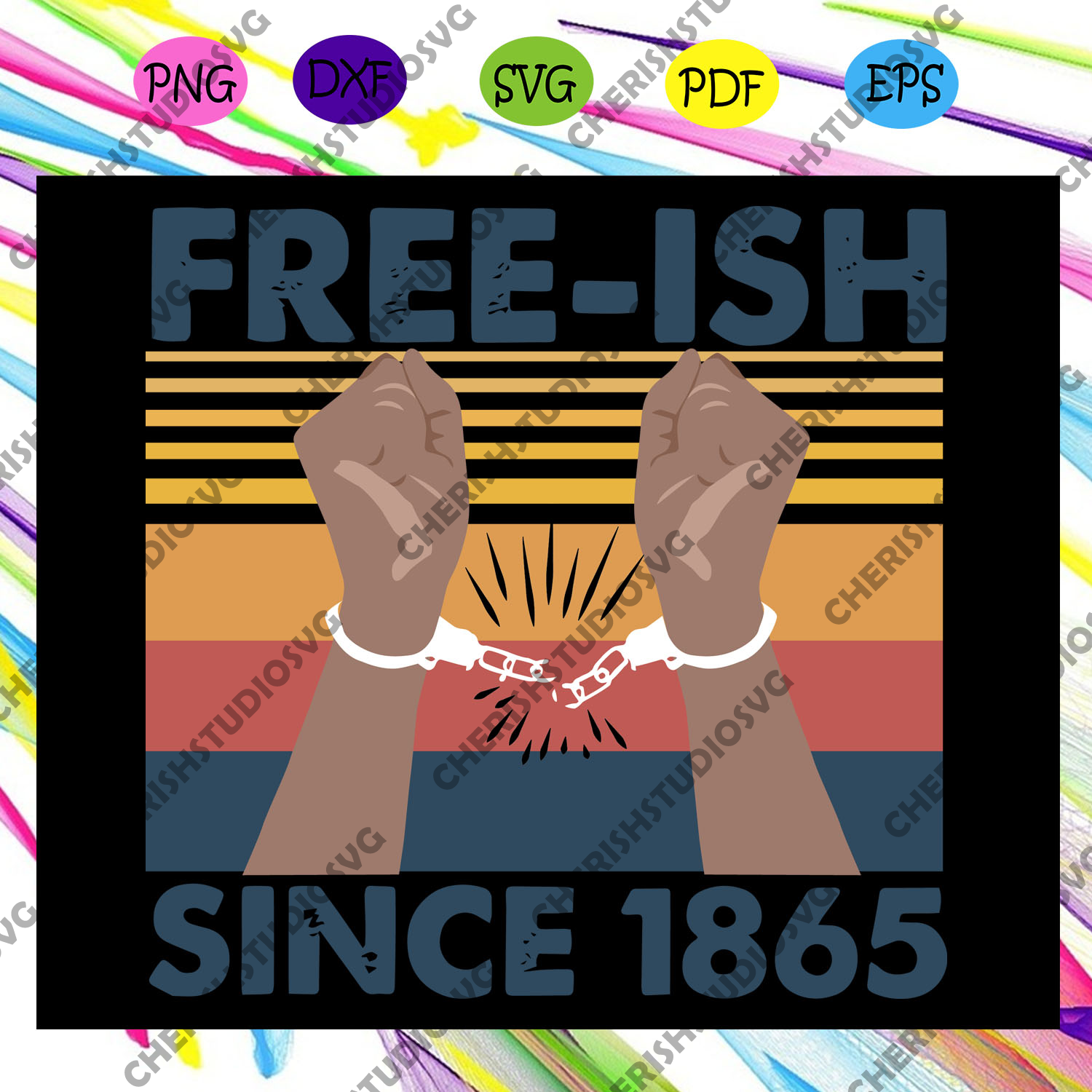Freeish Since 1865, Black Woman Svg, Black Power Svg, Black Month, Black Pride Svg, Black Lives Matter, Human Rights, Resistance Svg, I Cant Breathe Svg, Black Queen Svg, Files For Silhouette, Files For Cricut, SVG, DXF, EPS, PNG, Instant Download