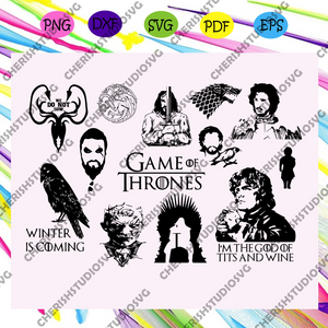 Game of thrones bundle, game of thrones, game of thrones gift, game of thrones svg, game of throne, game thrones gift, game thrones lover, trending svg For Silhouette, Files For Cricut, SVG, DXF, EPS, PNG Instant Download