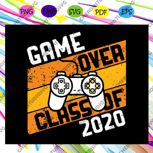 Game over class of 2020 svg, video games graduation svg, gamer graduation svg, game lover svg, video game quarantined, gamer 2020 svg, game lover svg, love gaming svg, Files For Silhouette, Files For Cricut, SVG, DXF, EPS, PNG, Instant Download