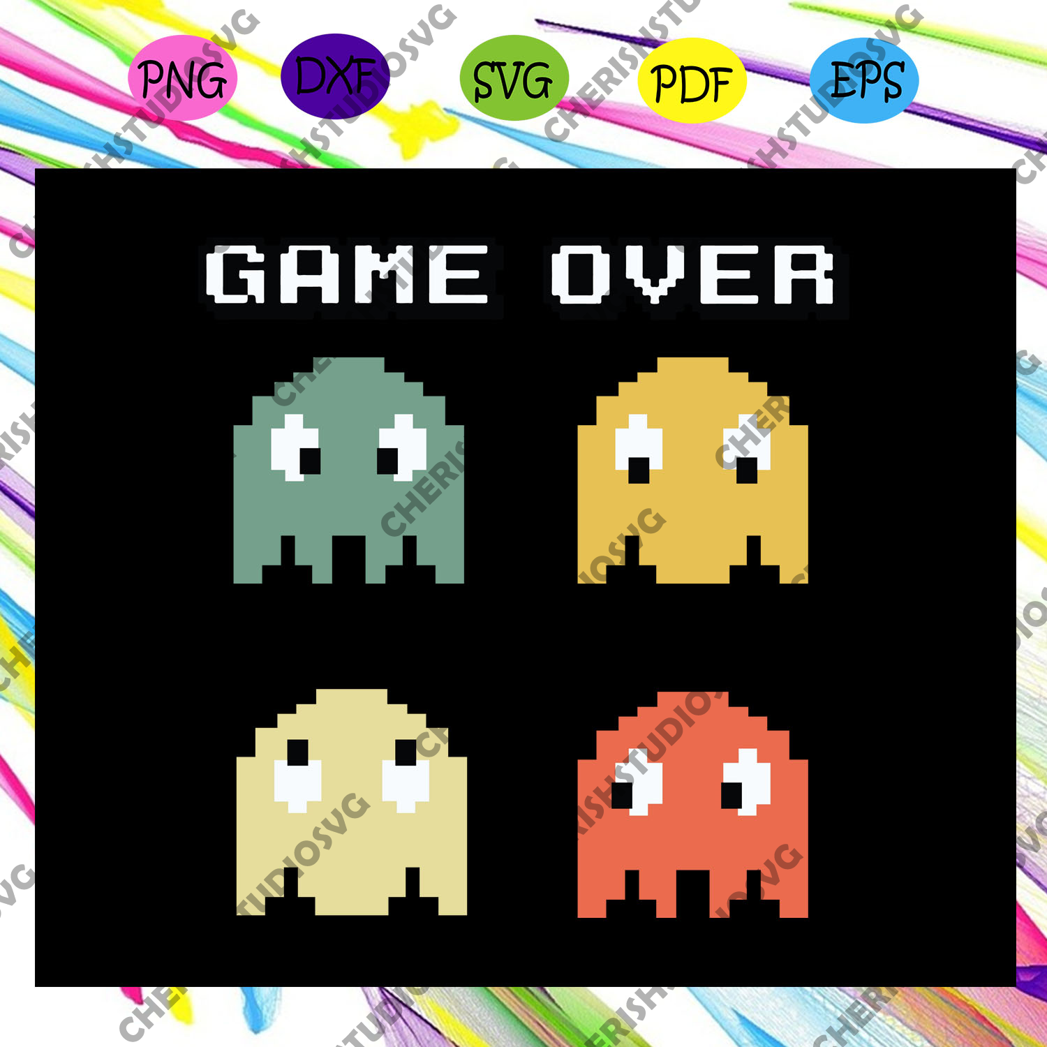 Game over svg, gaming svg, game life svg, video games svg, gamer For Silhouette, Files For Cricut, SVG, DXF, EPS, PNG Instant Download