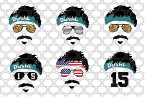 Gardner Minshew Mustache Mania, duval svg, duval gift, minshew headband american flag, jacksonville duval, duval county, jacksonville jaguars,trending svg, Files For Silhouette, Files For Cricut, SVG, DXF, EPS, PNG, Instant Download