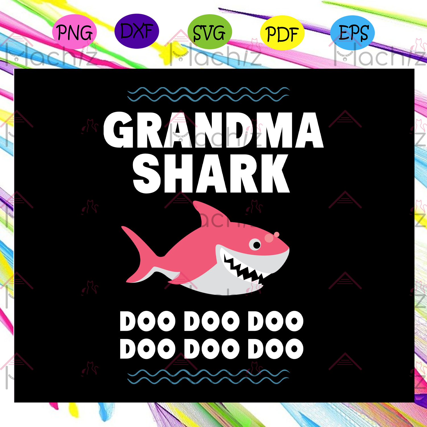 Grandma shark doo grandma , Mothers Day Gift,Trendy Mom,trending svg, Files For Silhouette, Files For Cricut, SVG, DXF, EPS, PNG, Instant Download