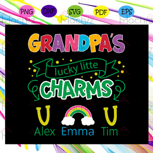 Grandpa svg, grandpa lucky charms,grandpa svg, grandpa gifts, best grandpa ever, grandma shirt, father day svg, father day shirt, father day gift,For Cricut, SVG, DXF, EPS, PNG Instant Download