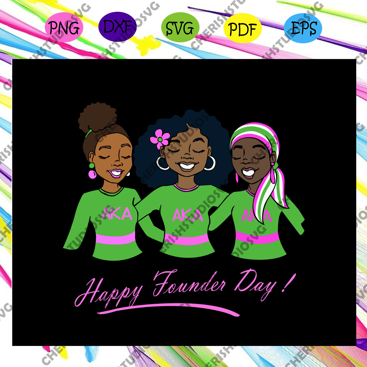 Happy founder day, aka sorority gift, aka sorority svg, Aka svg, aka shirt, aka sorority, alpha kappa alpha svg, alpha kappa alpha shirt, Files For Silhouette, Files For Cricut, SVG, DXF, EPS, PNG, Instant Download