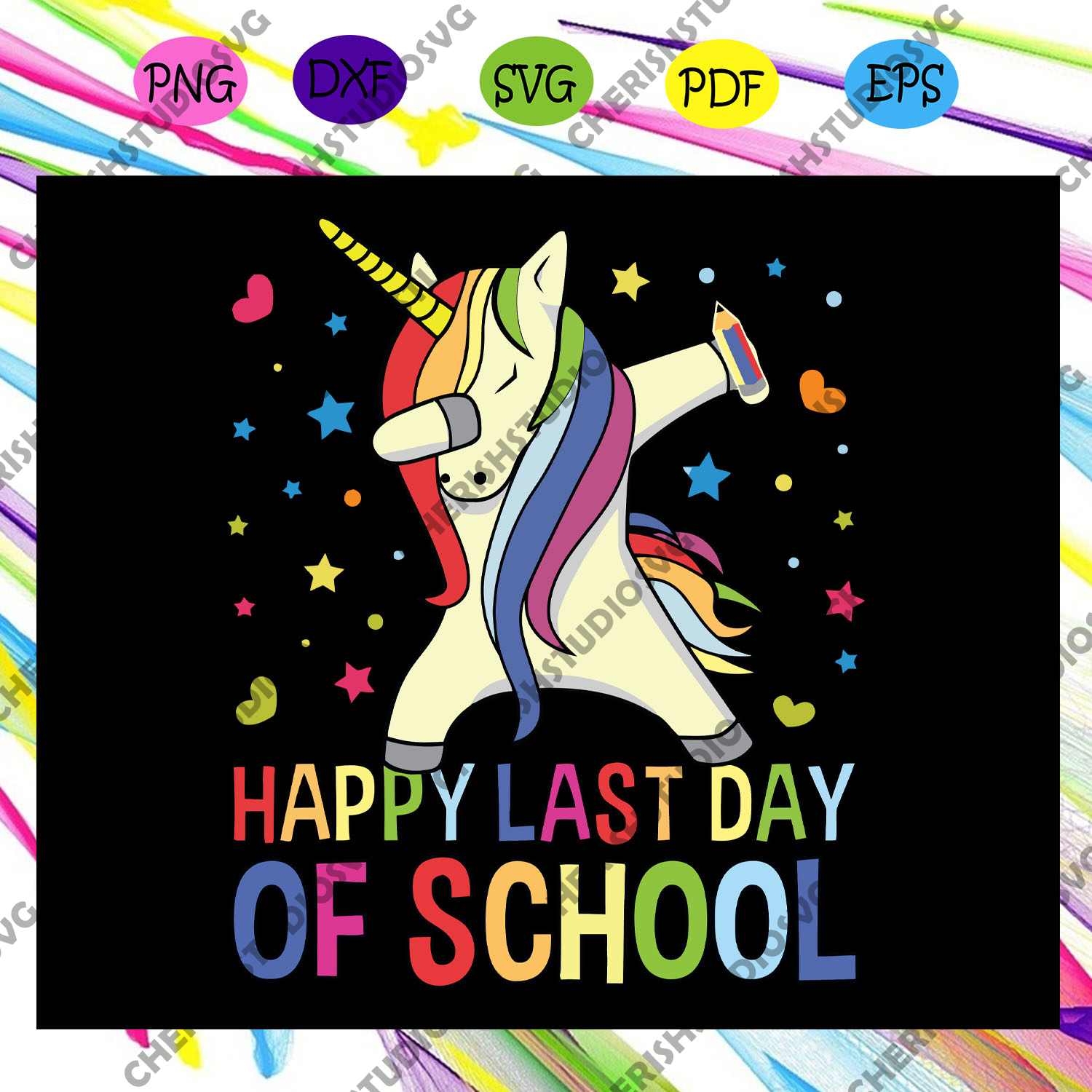 Happy last day of school, graduation svg, graduation gift, graduate svg, unicorn dabbing,school svg, last day of school,end of school,Files For Silhouette, Files For Cricut, SVG, DXF, EPS, PNG, Instant Download