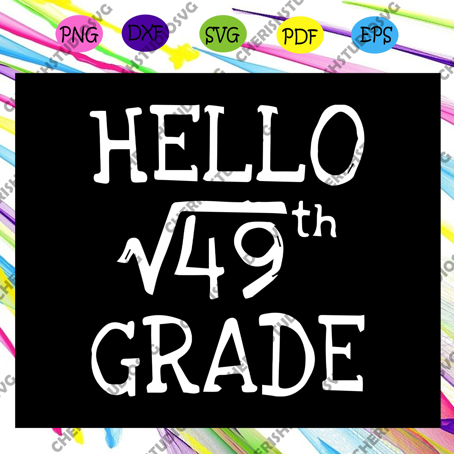 Hello √49th grade, first day of school, hello school, hello school svg, preschool squad, For Silhouette, Files For Cricut, SVG, DXF, EPS, PNG Instant Download