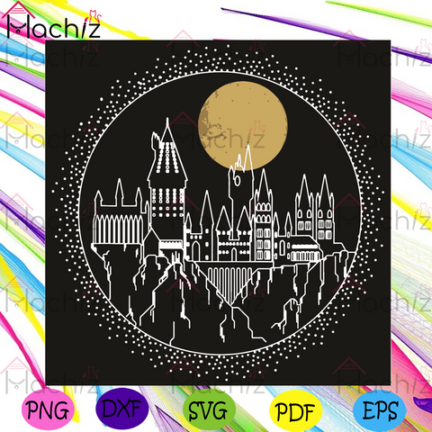 Hogwarts Castle Svg, Trending Svg, Hogwarts Svg, Harry Potter Svg, Harry Potter Castle Svg, Castle Svg, Moon Svg, Harry Potter Fans Svg, Harry Potter Lovers Svg, Harry Potter Gifts Svg, Hogwarts Castle Line Art Svg, Magic School Svg