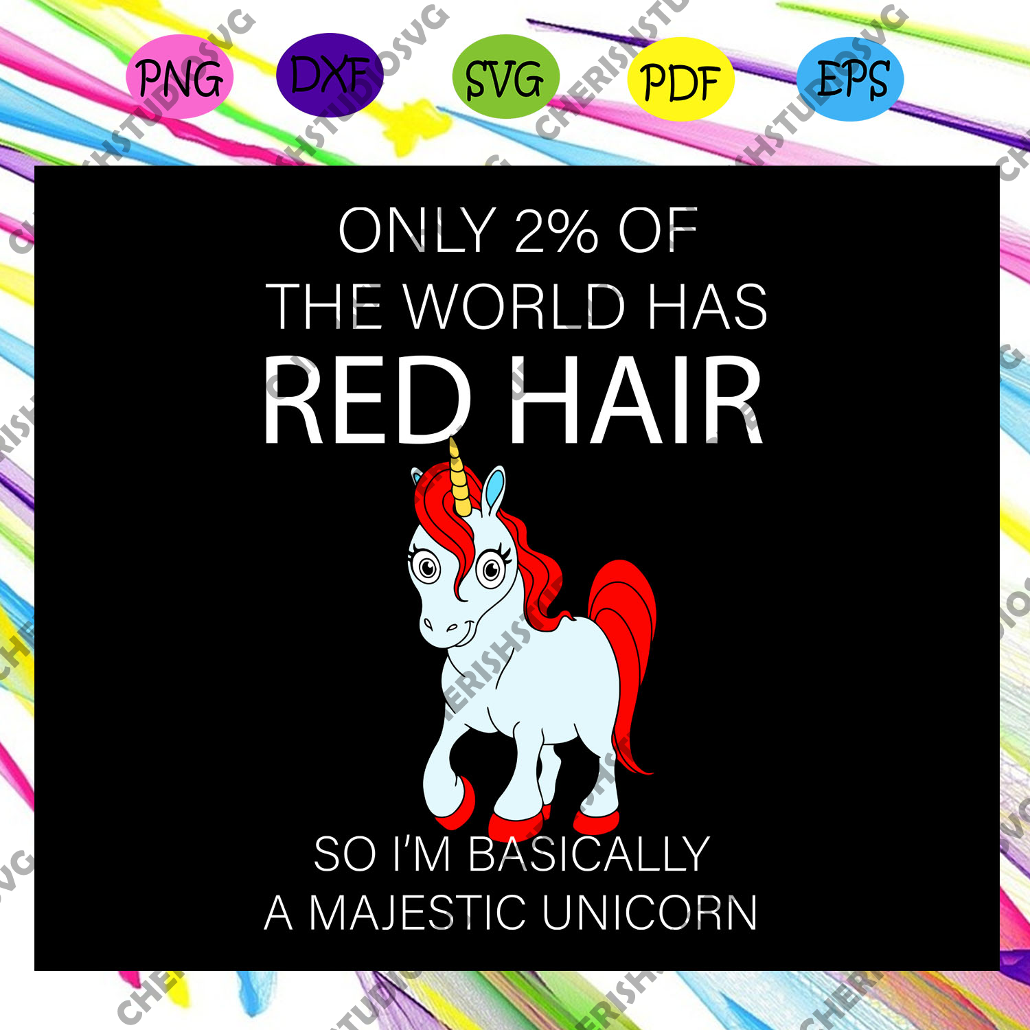 I'm basically a majestic unicorn, red hair bow, red hair, red bow, red hair gift, unicorn, unicorn svg, unicorn lover svg, unicorn lover gift,trending svg For Silhouette, Files For Cricut, SVG, DXF, EPS, PNG Instant Download
