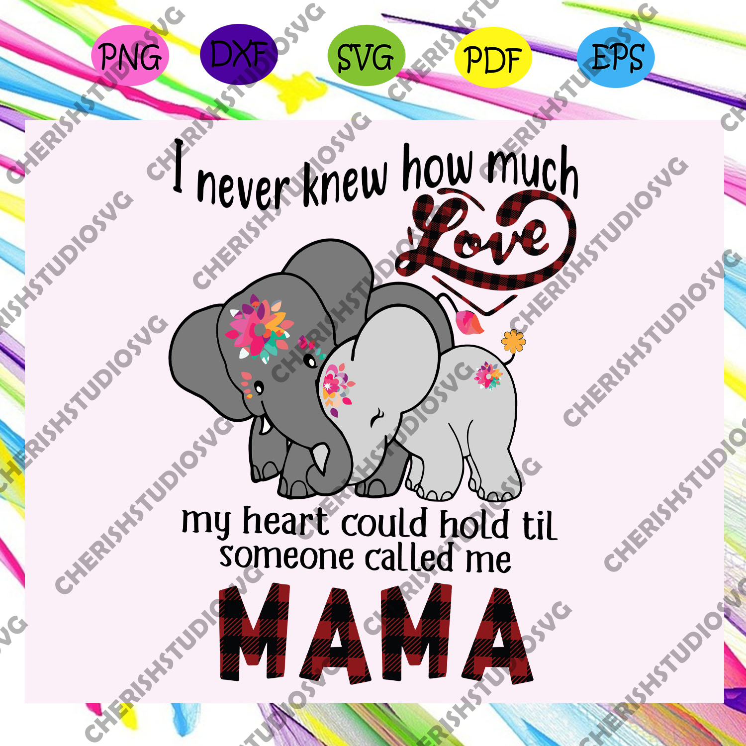 I never knew how much love my heart could hold svg, mama svg, mama life, mama lover, mother day svg, mother day gift, mother day shirt, For Silhouette, Files For Cricut, SVG, DXF, EPS, PNG Instant Download