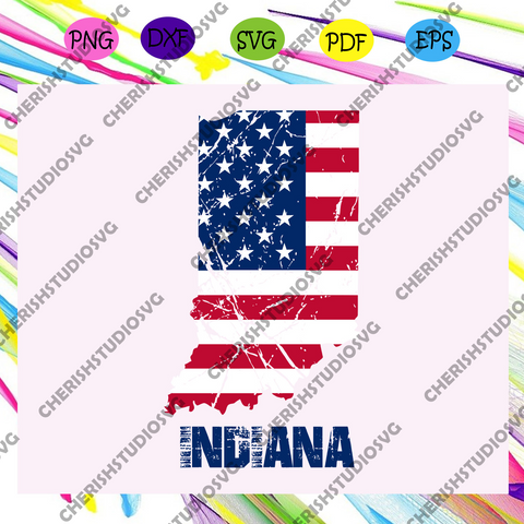 Indiana state flag, independence day svg, happy 4th of july svg,patriotic svg, independence day gift, For Silhouette, Files For Cricut, SVG, DXF, EPS, PNG Instant Download