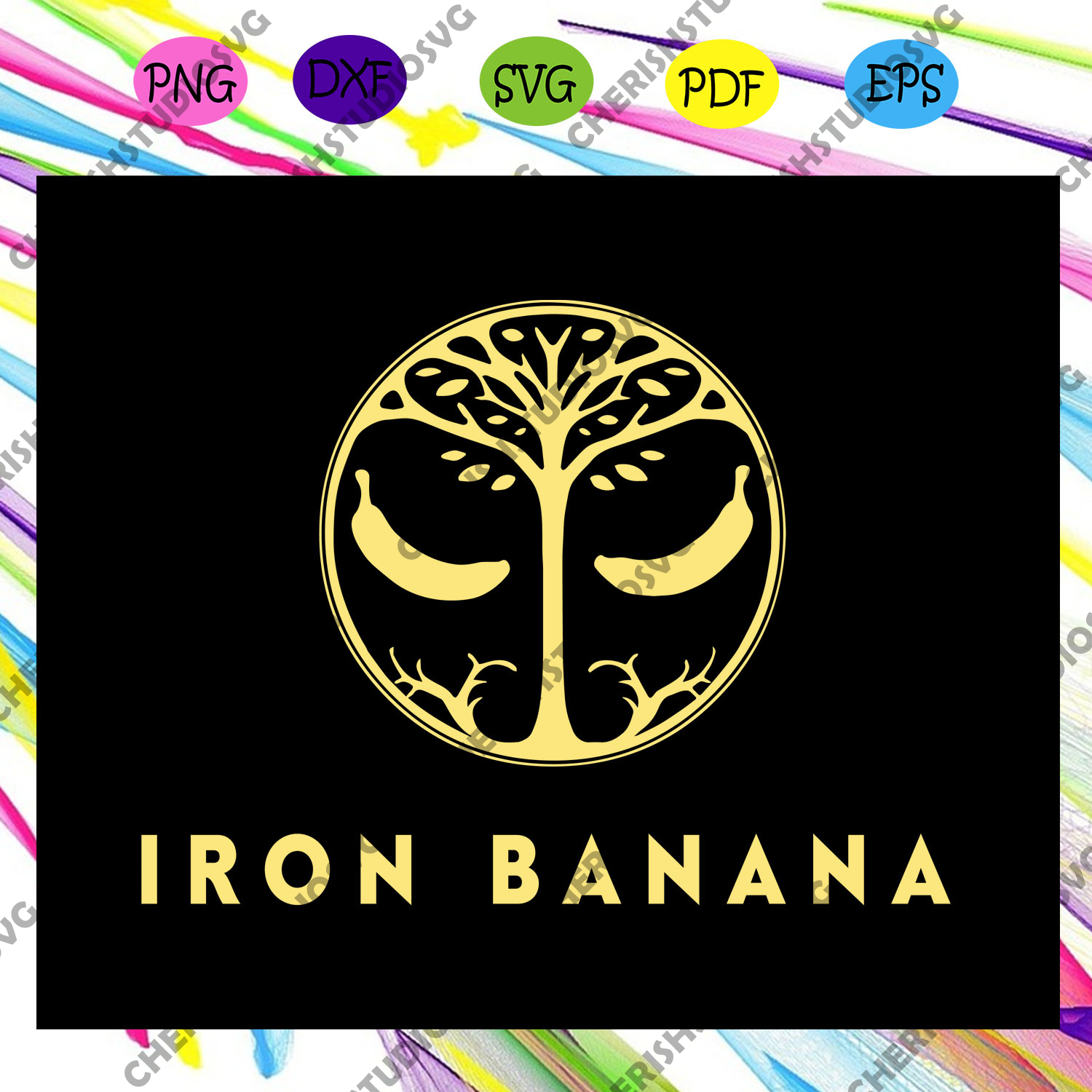 Iron banana svg, iron banana, banana svg, iron banner, iron banana shirt,trending svg For Silhouette, Files For Cricut, SVG, DXF, EPS, PNG Instant Download