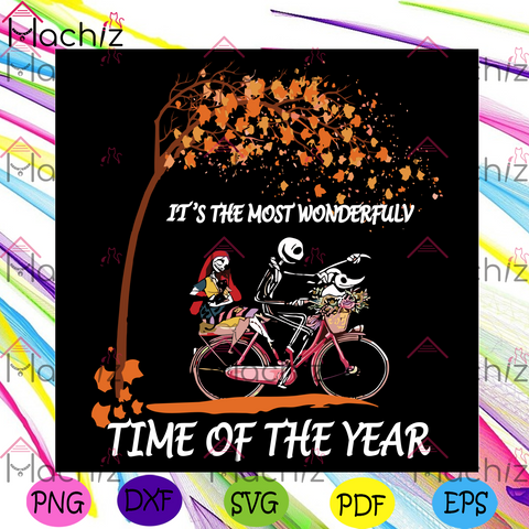 Jack Skellington Sally And Zero Svg, Halloween Svg, Jack Skellington Svg, Sally Svg, Zero Svg, Jack Skellington Lover, Jack Skellington Bicycling Svg, Bicycle Svg, Autumn Svg, Wonderful Time Svg