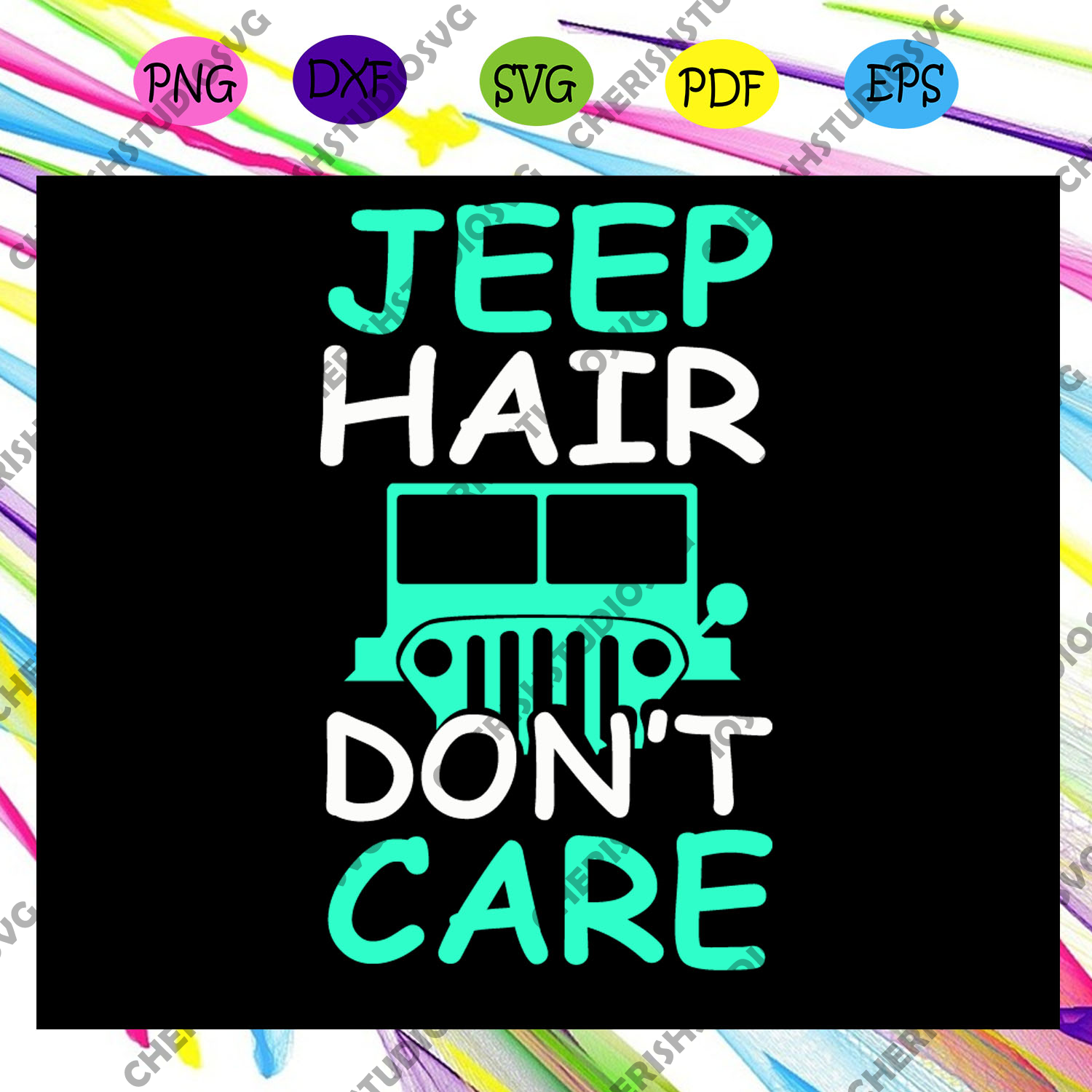 Jeep hair don't care,jeep life, jeep shirt, jeep lover, gift for family, jeep svg, jeep family, black jeep, funny jeep,trending svg Files For Silhouette, Files For Cricut, SVG, DXF, EPS, PNG, Instant Download