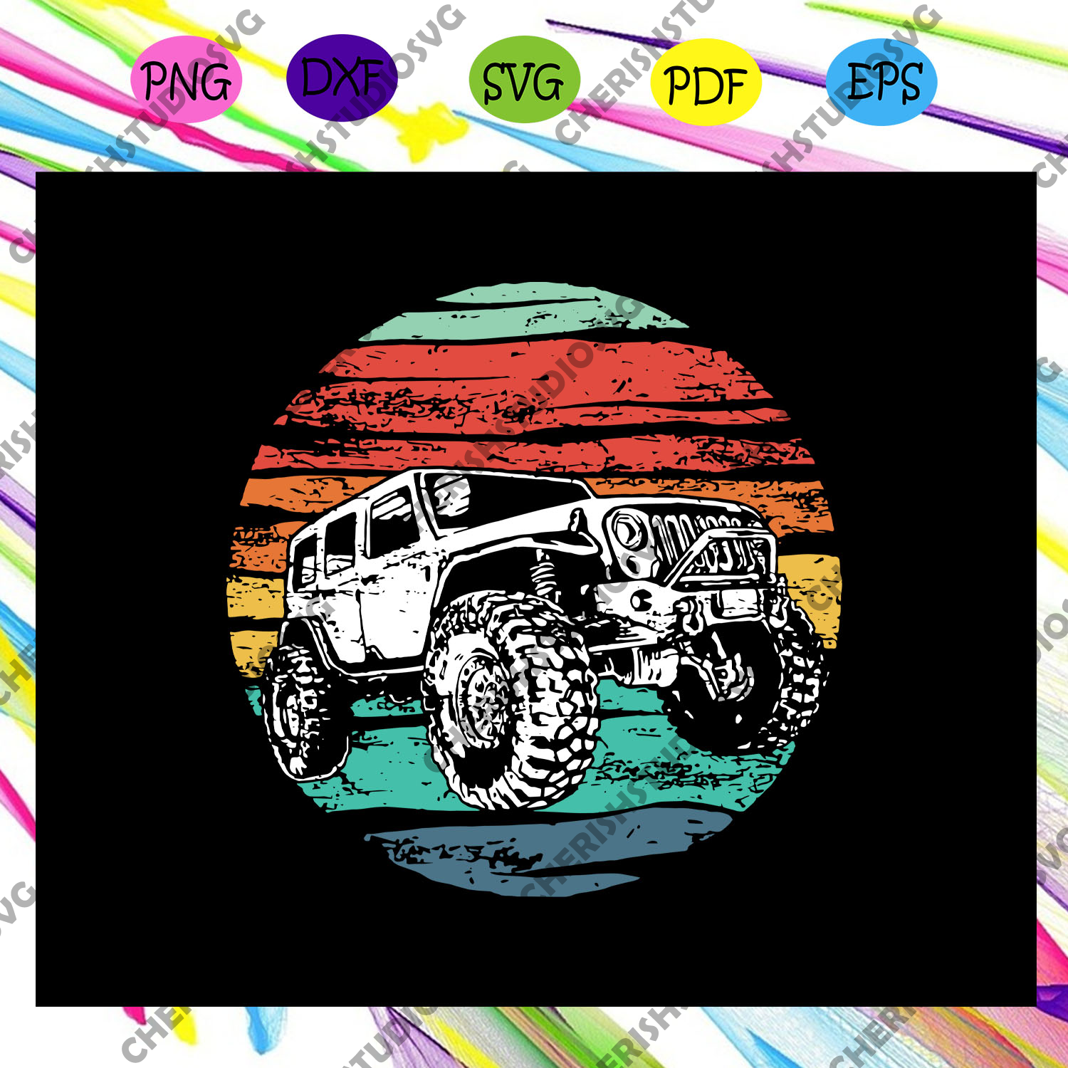Jeep off road svg, Retro 70s off road svg, Jeep lover,jeep svg, jeep shirt, For Silhouette, Files For Cricut, SVG, DXF, EPS, PNG Instant Download