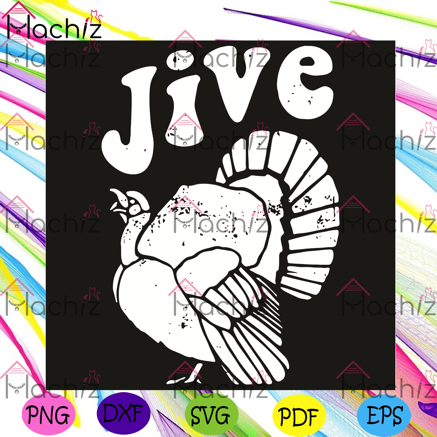 Jive Turkey Svg, Thanksgiving Svg, Jive Turkey Svg, Turkey Svg, Cute Turkey Svg, Turkey Thanksgiving Svg, Thanksgiving Gift, Thanksgiving Shirt, Turkey Gift, Funny Gift, Svg Cricut, Silhouette Svg Files, Cricut Svg