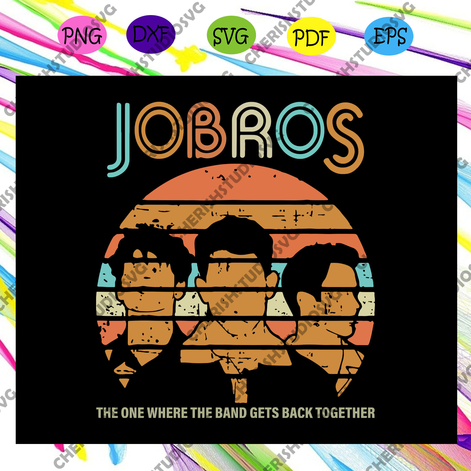 Jobros the one where the band gets back together, jonas brothers, nick jonas, joe jonas, kevin jonas, jonas, jonas svg, the jonas brothers, trending svg For Silhouette, Files For Cricut, SVG, DXF, EPS, PNG Instant Download