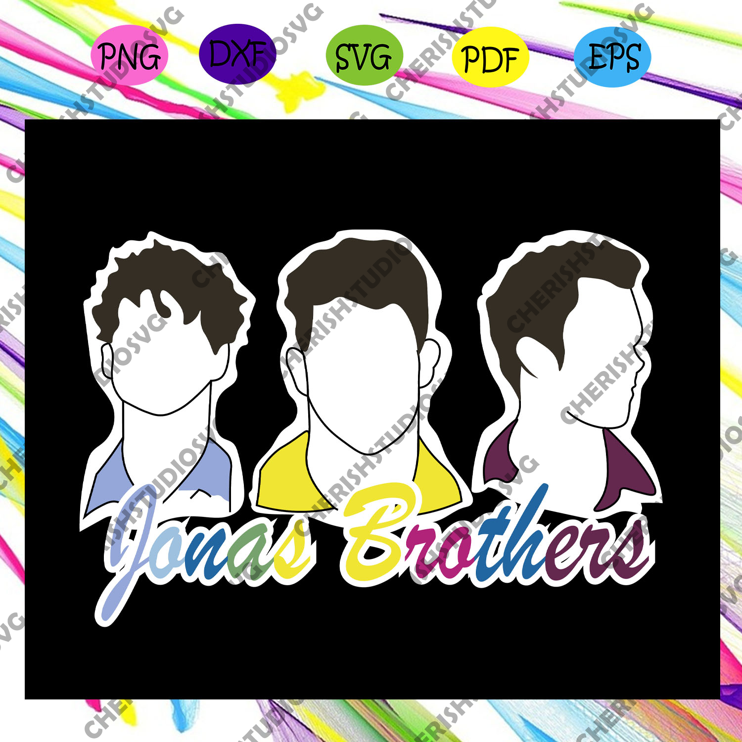 Jonas brothers svg, jonas, happiness begins, jonas t-shirt, jonas brothers fan,trending svg For Silhouette, Files For Cricut, SVG, DXF, EPS, PNG Instant Download