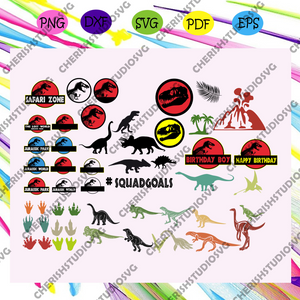 Jurassic park bundle svg,jurassic park svg, jurassic park party, jurassic birthday, jurassic world svg,trending svg For Silhouette, Files For Cricut, SVG, DXF, EPS, PNG Instant Download