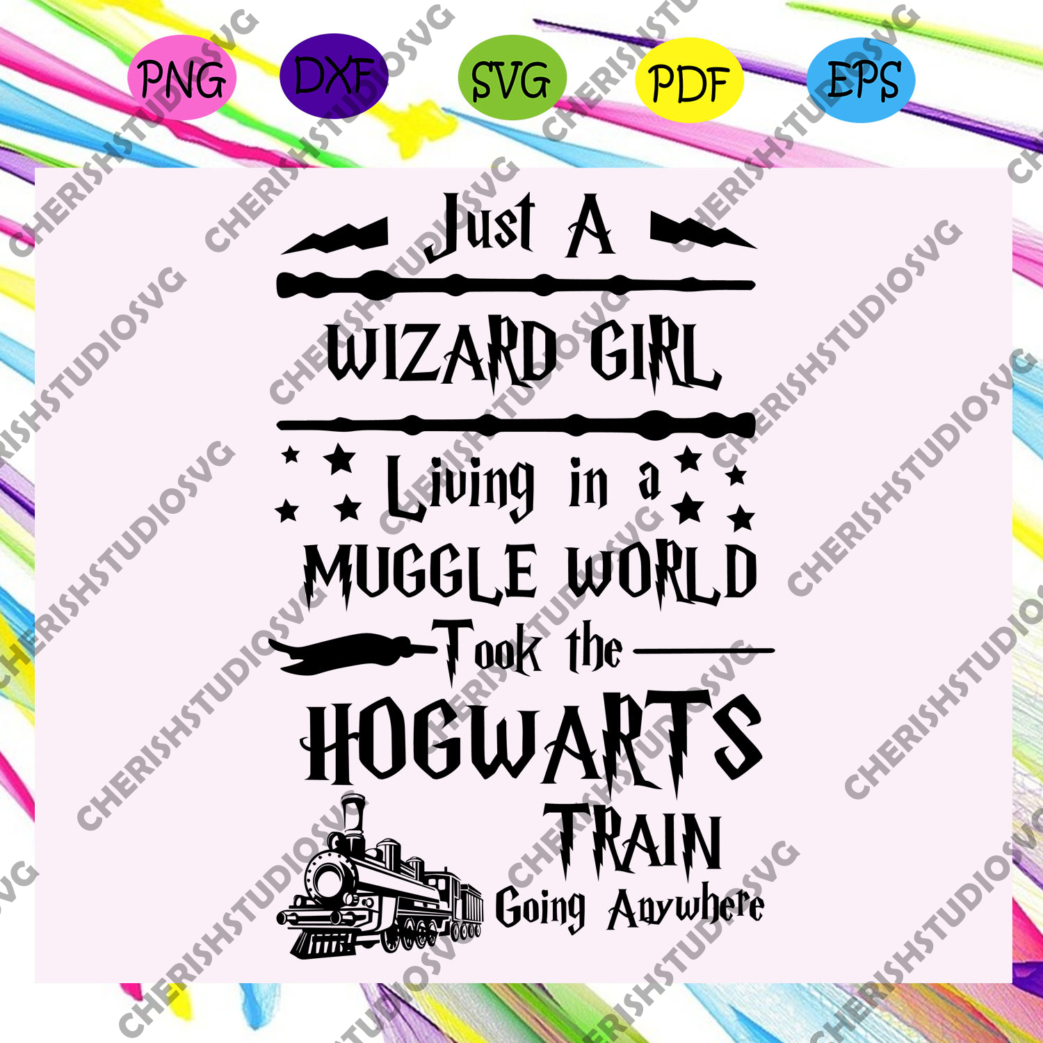 Just a wizard girl living in a muggle world took the hogwarts train going anywhere, harry potter, harry potter svg, harry potter shirt, harry potter gift,trending svg For Silhouette, Files For Cricut, SVG, DXF, EPS, PNG Instant Download
