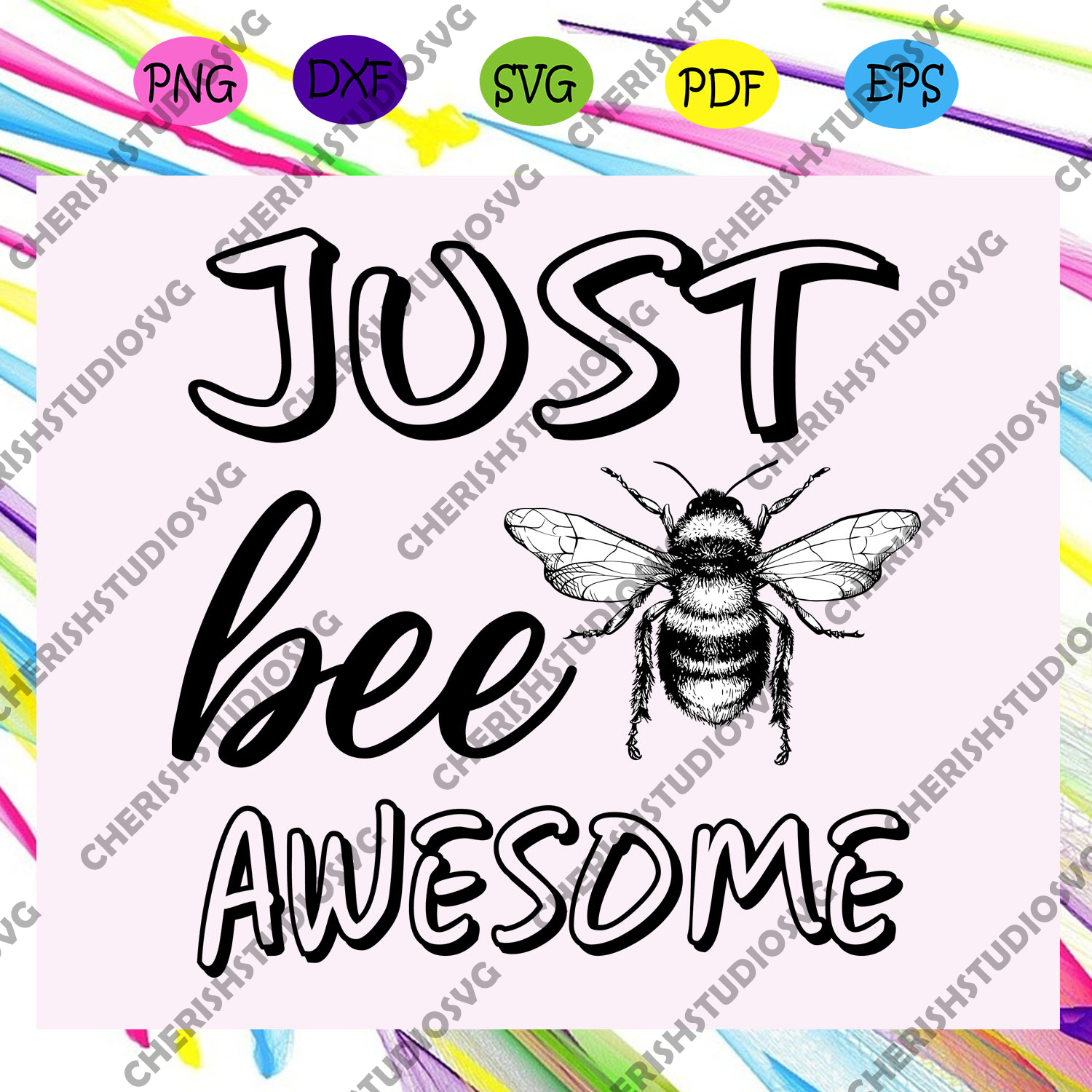 Just bee awesome , bee svg, bee lover gift, bee clipart, bee shirt, bee lover svg, bee gift,trending svg For Silhouette, Files For Cricut, SVG, DXF, EPS, PNG Instant Download