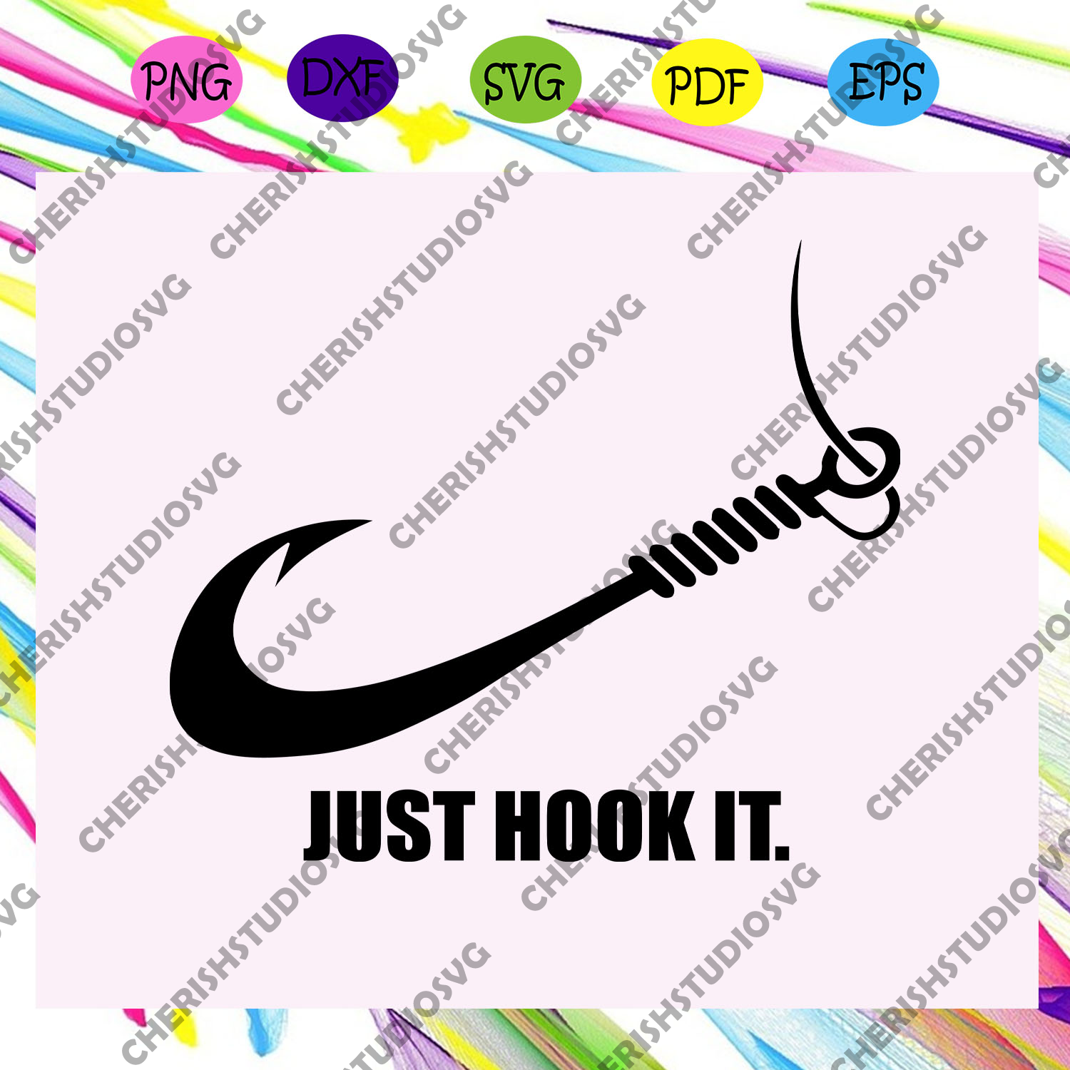 Just hook it, nike, nike svg, nike clipart, nike lover svg, nike lover gift, nike shirt, vintage nike, nike logo svg, nike sweat,trending svg, Files For Silhouette, Files For Cricut, SVG, DXF, EPS, PNG, Instant Download