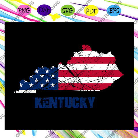 Kentucky state flag, independence day svg,american flag, happy 4th of july svg,patriotic svg, independence day gift,For Silhouette, Files For Cricut, SVG, DXF, EPS, PNG Instant Download