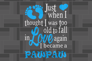 Love pawpaw SVG , papa svg, baba svg,father's day svg, father svg, dad svg, daddy svg, poppop svg Files For Silhouette, Files For Cricut, SVG, DXF, EPS, PNG, Instant Download