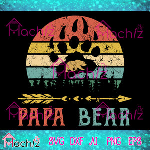 Papa bear svg ,DAD SVG,papa svg,bear vecter, bear svg,father's vector,svg, eps, dxf, Png Silhouette Cameo or Cricut Digital Download Files