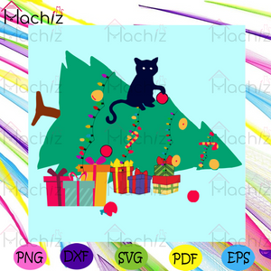 Naughty Black Cat With Christmas Tree Svg, Christmas Svg, Naughty Black Cat Svg, Christmas Tree Svg, Naughty Black Cat With Christmas Tree Svg, Christmas 2020 Svg, Merry Christmas Svg, Xmas Svg, Christmas Party Svgs, Cricut Svg, Silhouette Svg, Svg