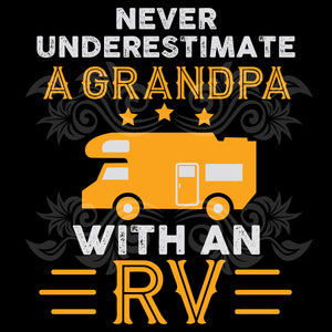 Never underestimate a grandpa with an rv, grandpa rv, fathers day svg, grandpa svg, grandfather svg, the grandfather svg, best grandpa svg, grandpa svg, trending svg, Files For Silhouette, Files For Cricut, SVG, DXF, EPS, PNG, Instant Download