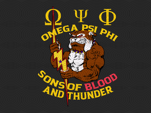 Omega psi phi son of blood and thunder,  omega psi phi, omega gift, blood and thunder, 1911 svg, since 1911, omega shirt, omega sorority, omega decal,trending svg, Files For Silhouette, Files For Cricut, SVG, DXF, EPS, PNG, Instant Download