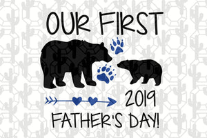Our first father's day, papa svg, baba svg,father's day svg, father svg,  daddy svg, poppop svg Files For Silhouette, Files For Cricut, SVG, DXF, EPS, PNG, Instant Download