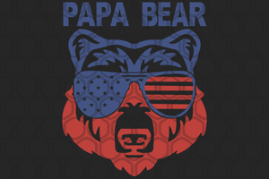 Papa bear SVG ,papa svg, baba svg,father's day svg, father svg, dad svg, daddy svg, poppop svg Files For Silhouette, Files For Cricut, SVG, DXF, EPS, PNG, Instant Download