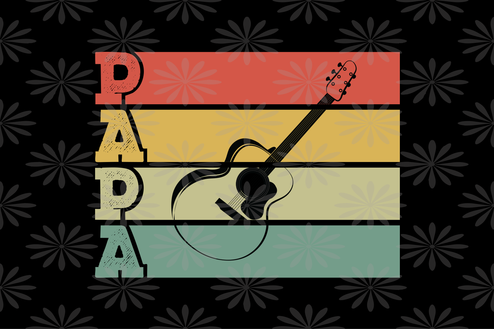 Papa guitar SVG , dad svg, papa svg, father svg, daddy svg, poppop svg Files For Silhouette, Files For Cricut, SVG, DXF, EPS, PNG, Instant Download