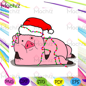 Pig Christmas Svg, Christmas Svg, Pig Svg, Santa Hat Svg, Pig Lovers Svg, Pink Pig Svg, Funny Pig Svg, String Lights Svg, Pig Gifts Svg, Animals Svg, Animal Gifts Svg, Christmas Holiday Svg, Christmas Gifts Svg, Merry Christmas Svg,