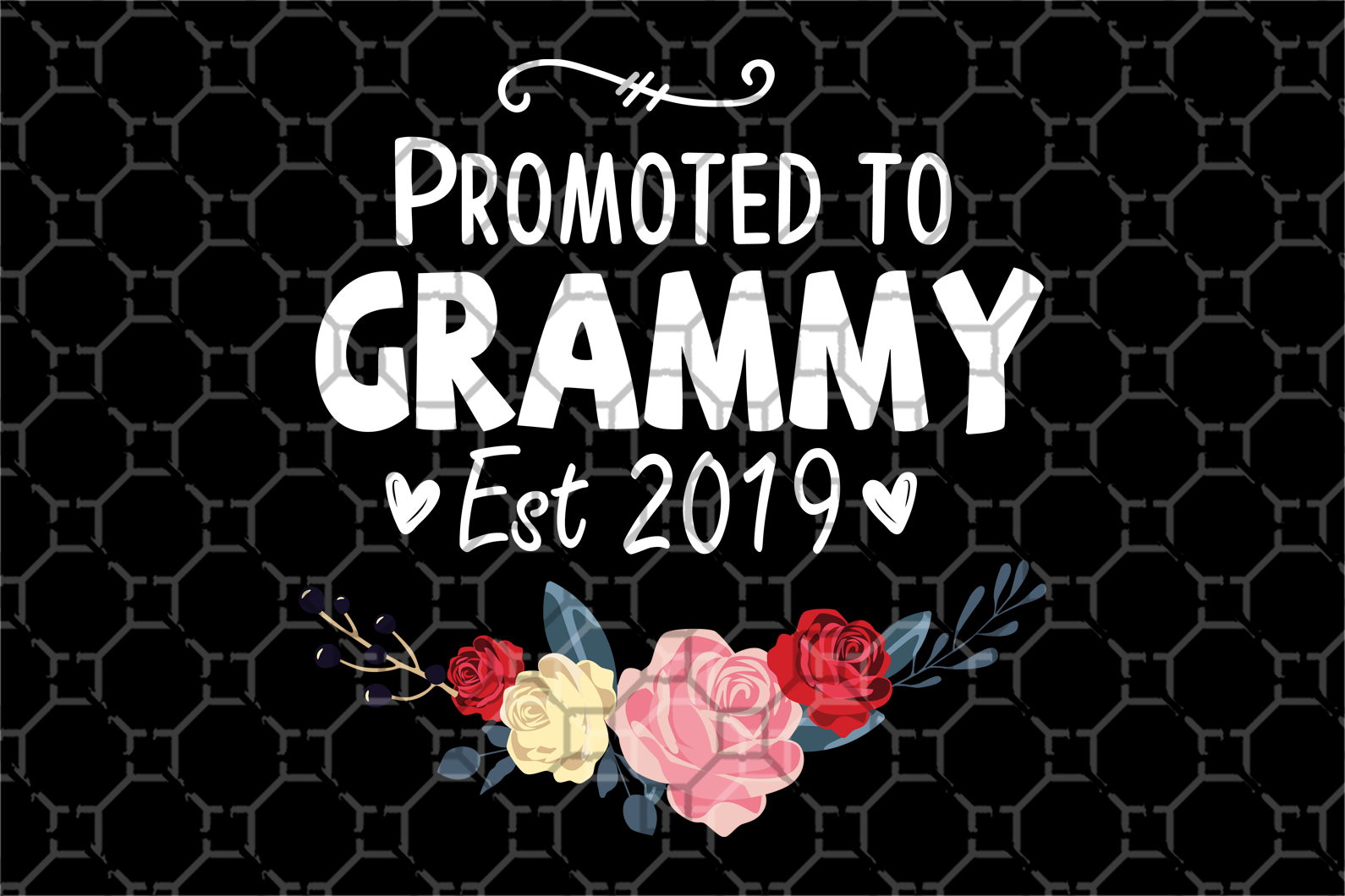 Promoted to grammy, mother's day svg, mother day, mother svg, mom svg, nana svg, mimi svg For Silhouette, Files For Cricut, SVG, DXF, EPS, PNG Instant Download