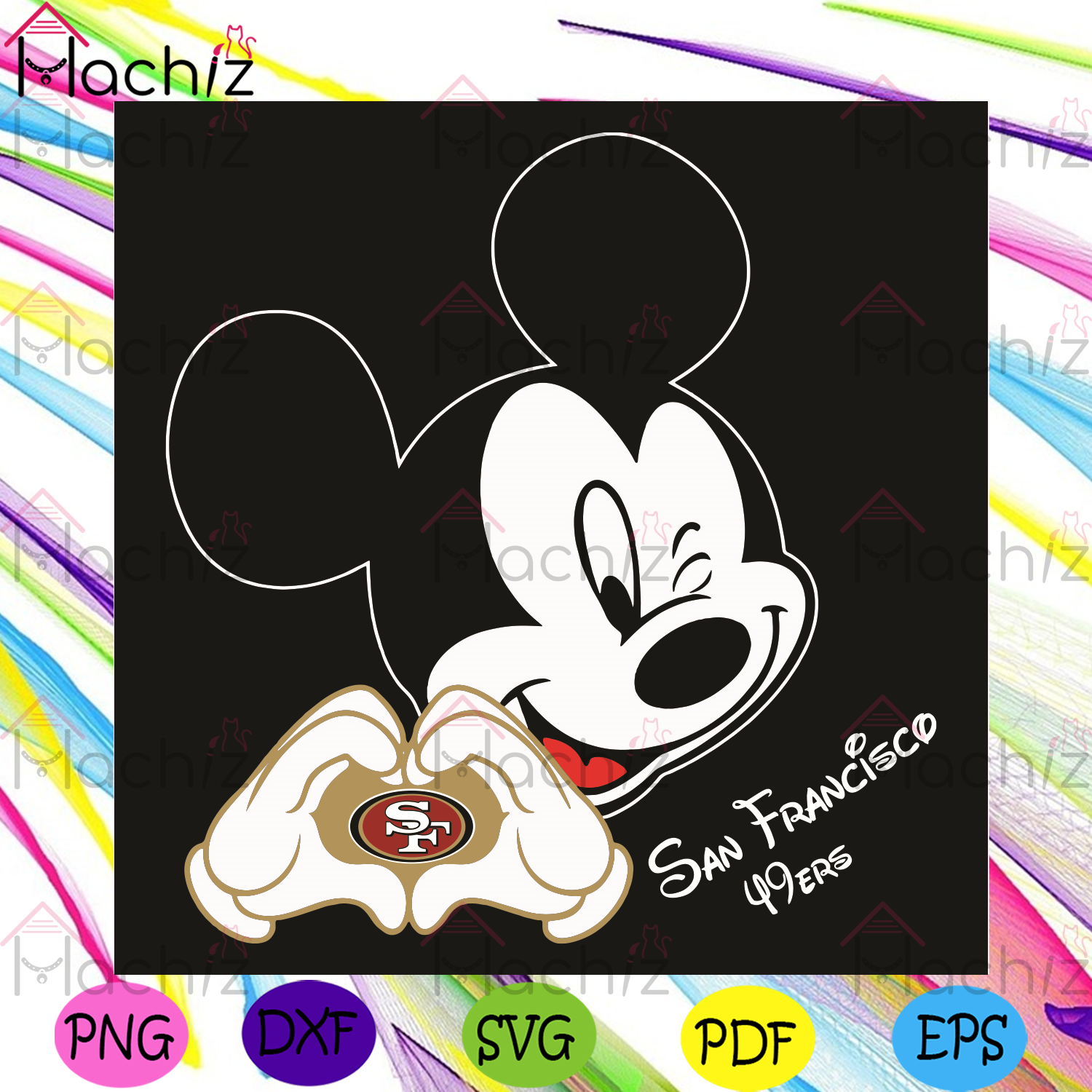 San Francisco 49ers Svg, Sport Svg, San Francisco 49ers Football Team Svg, San Francisco 49ers Fans, San Francisco 49ers Lovers, San Francisco 49ers Gifts, San Francisco 49ers Logo Svg, Mickey Heart Svg, NFL Svg, Disney Svg, Football Svg