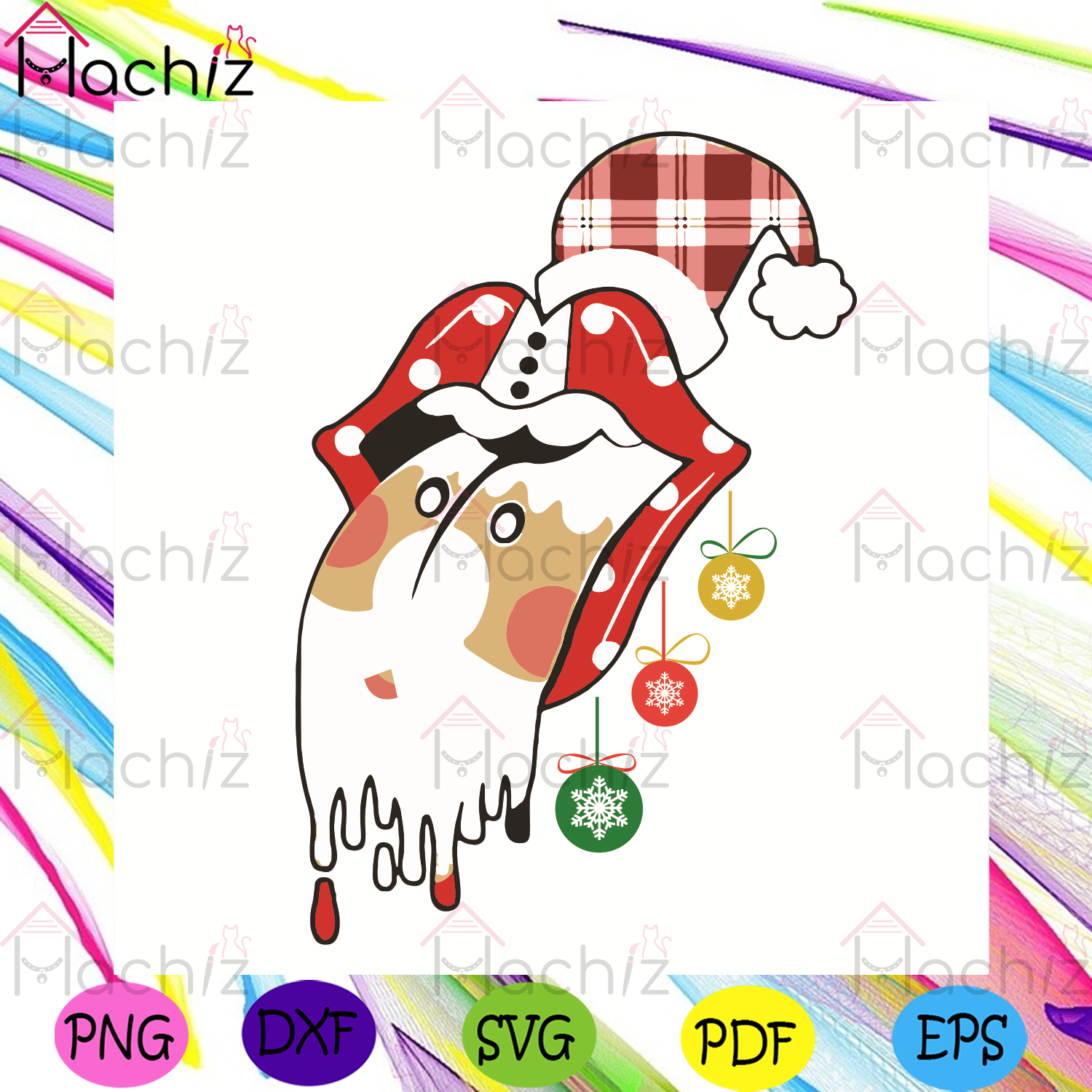 Santa Clause Stones Merry Christmas Svg, Christmas Svg, Santa Claus Svg, Stones Svg, Lips Svg, Christmas Lips Svg, Sexy Lips Svg, Merry Christmas Svg, Christmas Gifts Svg, Santa Hat Svg, Christmas Decoration Svg