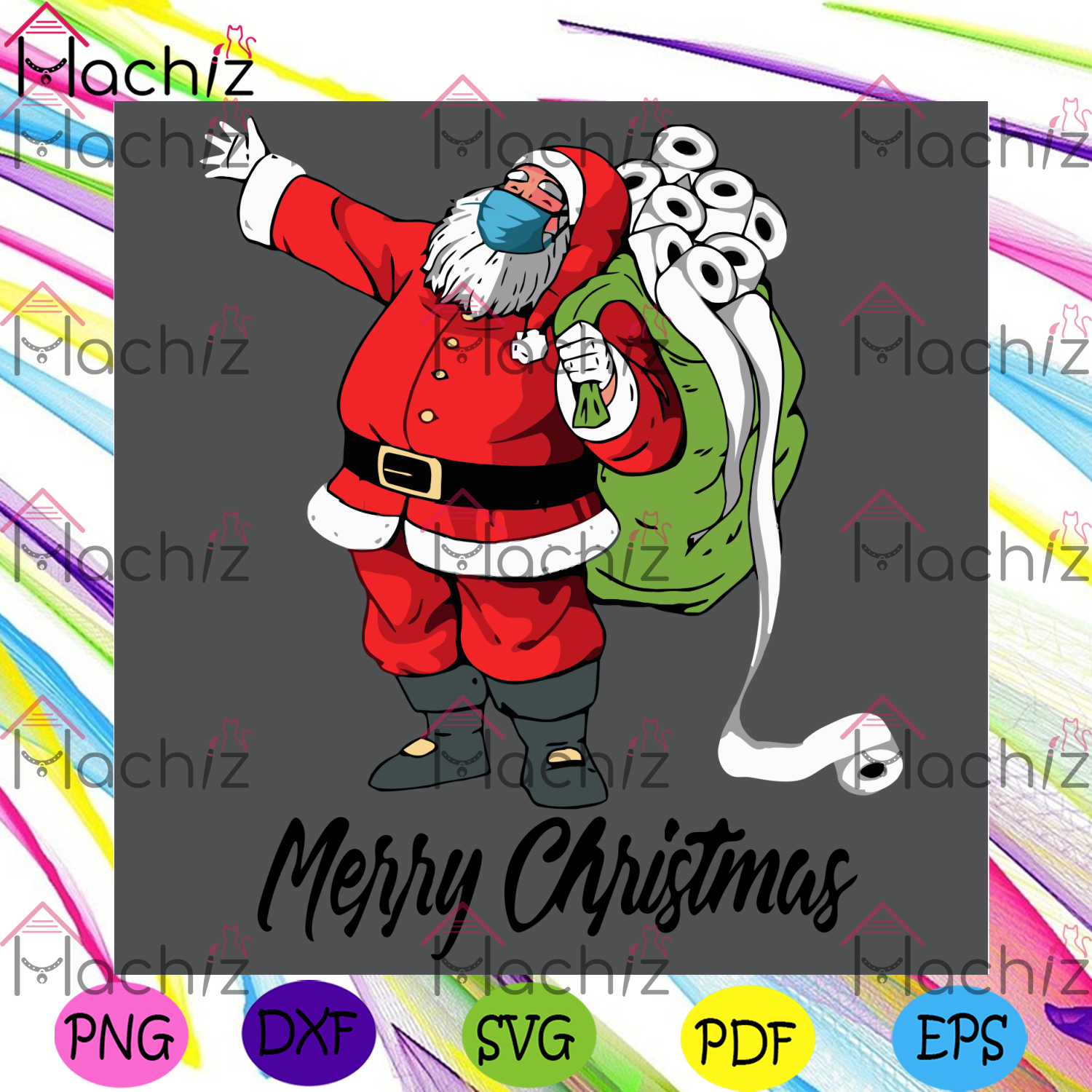 Santa With Face Mask And Toilet Paper Svg, Christmas Svg, Santa With Face Mask Svg, Toilet Paper Svg, Funny Christmas, Christmas 2020 Svg, Merry Christmas Svg, Xmas Svg, Christmas Party Svg, Christmas Holiday Svg