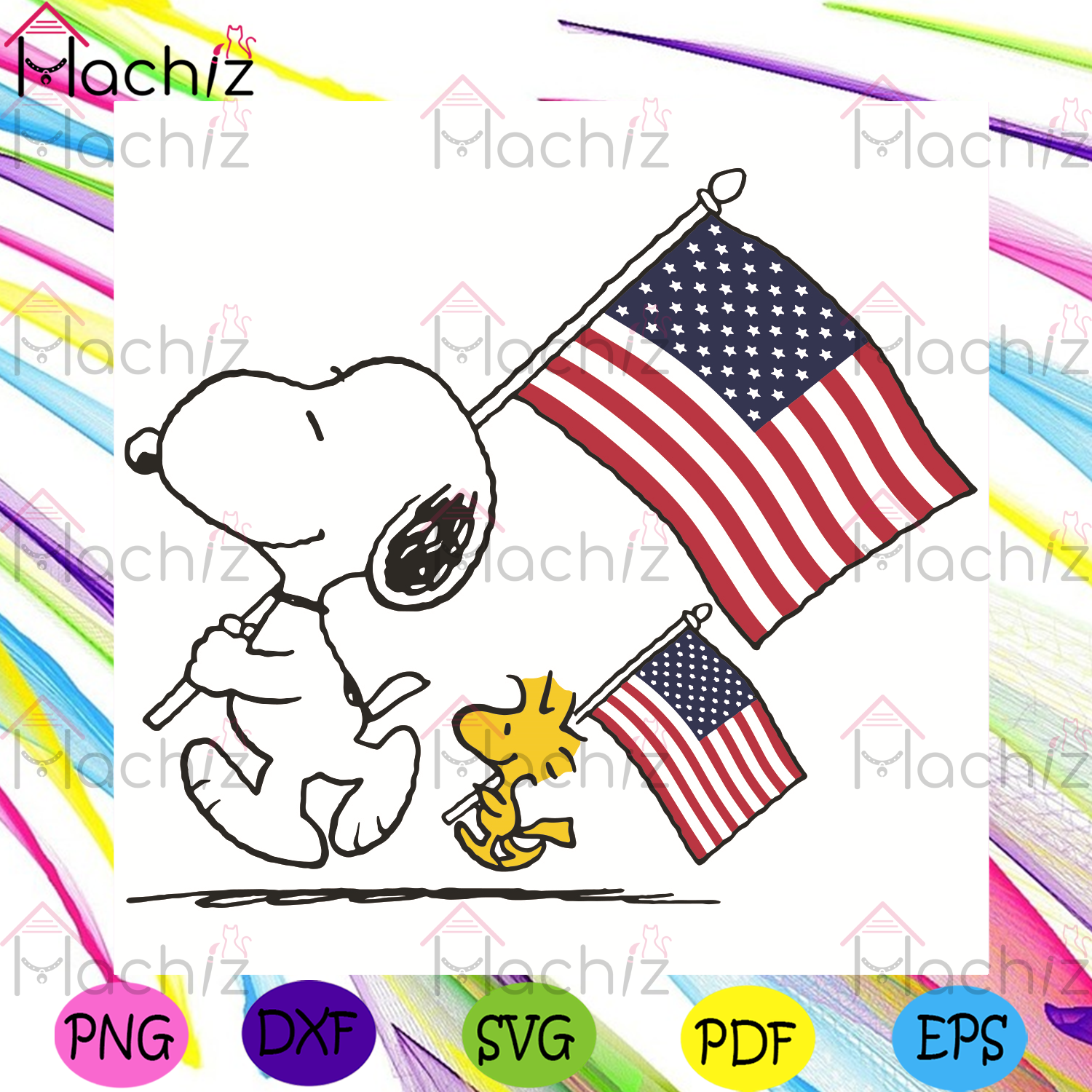 Snoopy And Woodstock Holding American Flag Svg, Independence Svg, Snoopy Svg, Woodstock Svg, 4th Of July Svg, American Flag Svg, Independence Day Svg, Snoopy Gifts Svg, Woodstock Gifts Svg, Trending Svg