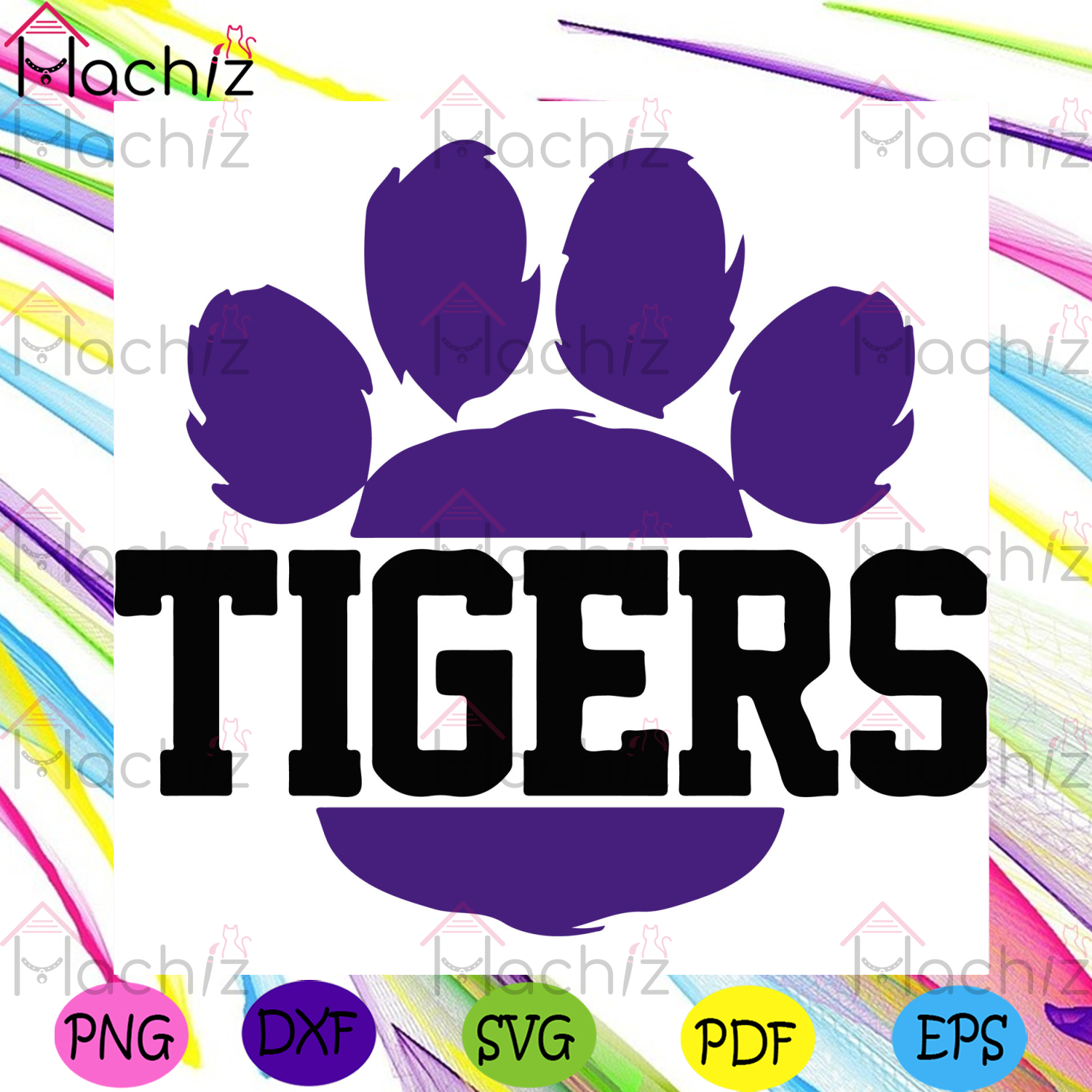 Split Paw Print SVG, Sport Svg, Tiger Paw SVG, Split Letter SVG, Tigers Clip Art, LSU Tigers Svg, LSU Tigers Football Svg, Football Team Svg, Football Fans Svg, Tigers Fans Svg, NCAA Svg, NCAA Gift Svg, NCAA Fans Svg,