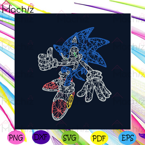 Sonic Fictional Character Svg, Trending Svg, Sonic the Hedgehog Svg, Sonic Svg, Sonic Gift Svg, Sonic Lovers Svg, Game Svg, Gamer Svg, Gaming Svg, Playing Game Svg