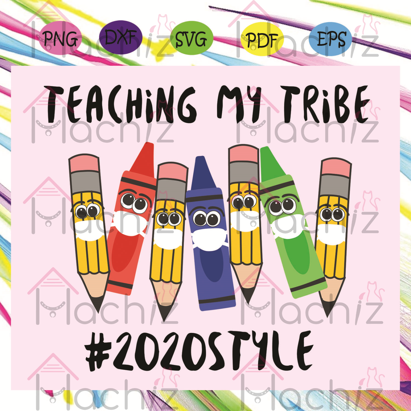 Teaching My Tribe, 100th Days svg, Back to school svg, Back to school shirt, Teacher life svg, Teacher shirt, Teacher gift, Back to school gift, pencil svg, Class 2020, school svg, school gift, school shirt, student