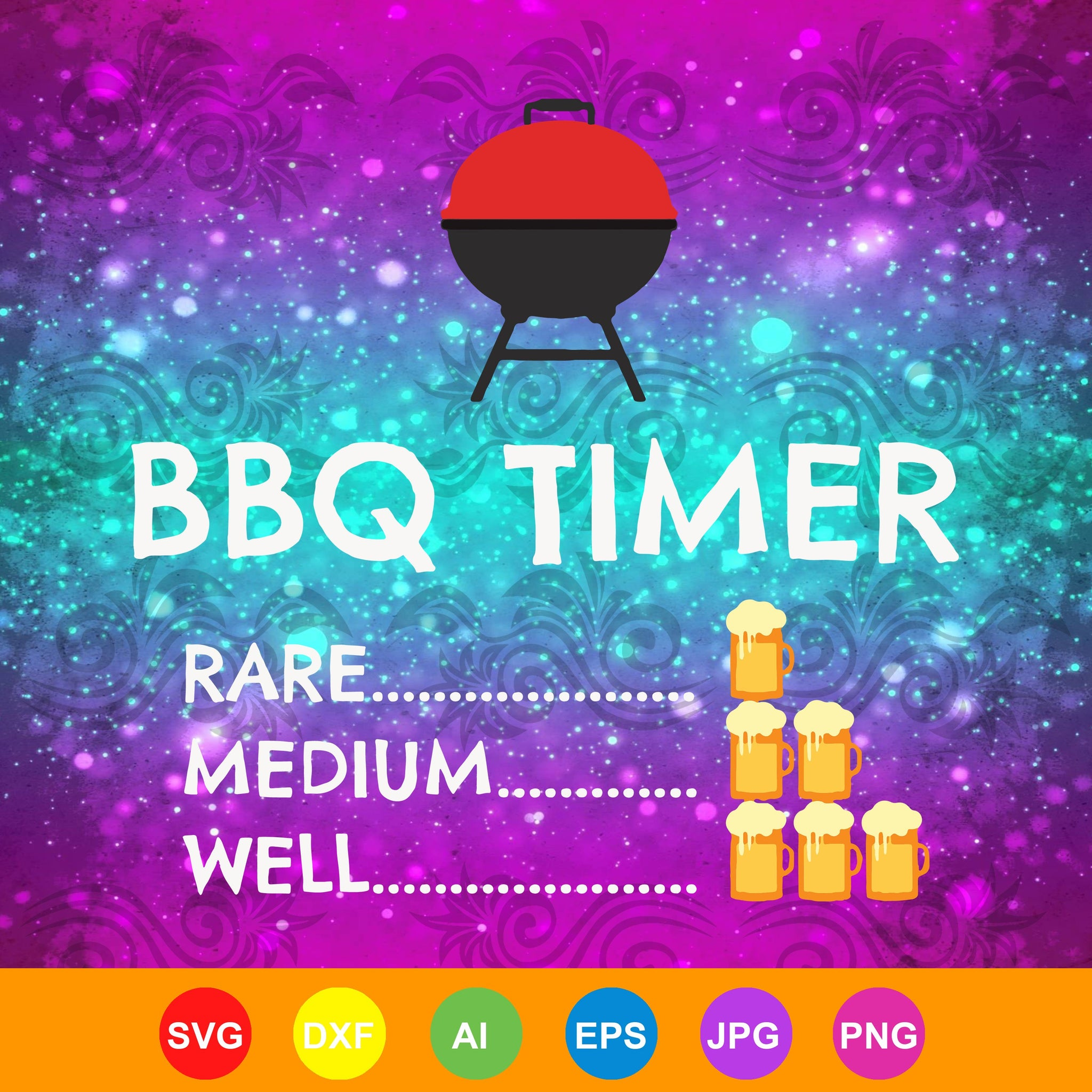 Timer barbecue shirt, barbecue, bbq shirt, bbq timer gift, trending svg, Files For Silhouette, Files For Cricut, SVG, DXF, EPS, PNG, Instant Download