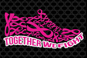 Together we fight, shoe svg, pink shoe, breast cancer, breast cancer svg, cancer awareness, breast cancer awareness, cancer ribbon svg, trending svg, Files For Silhouette, Files For Cricut, SVG, DXF, EPS, PNG, Instant Download