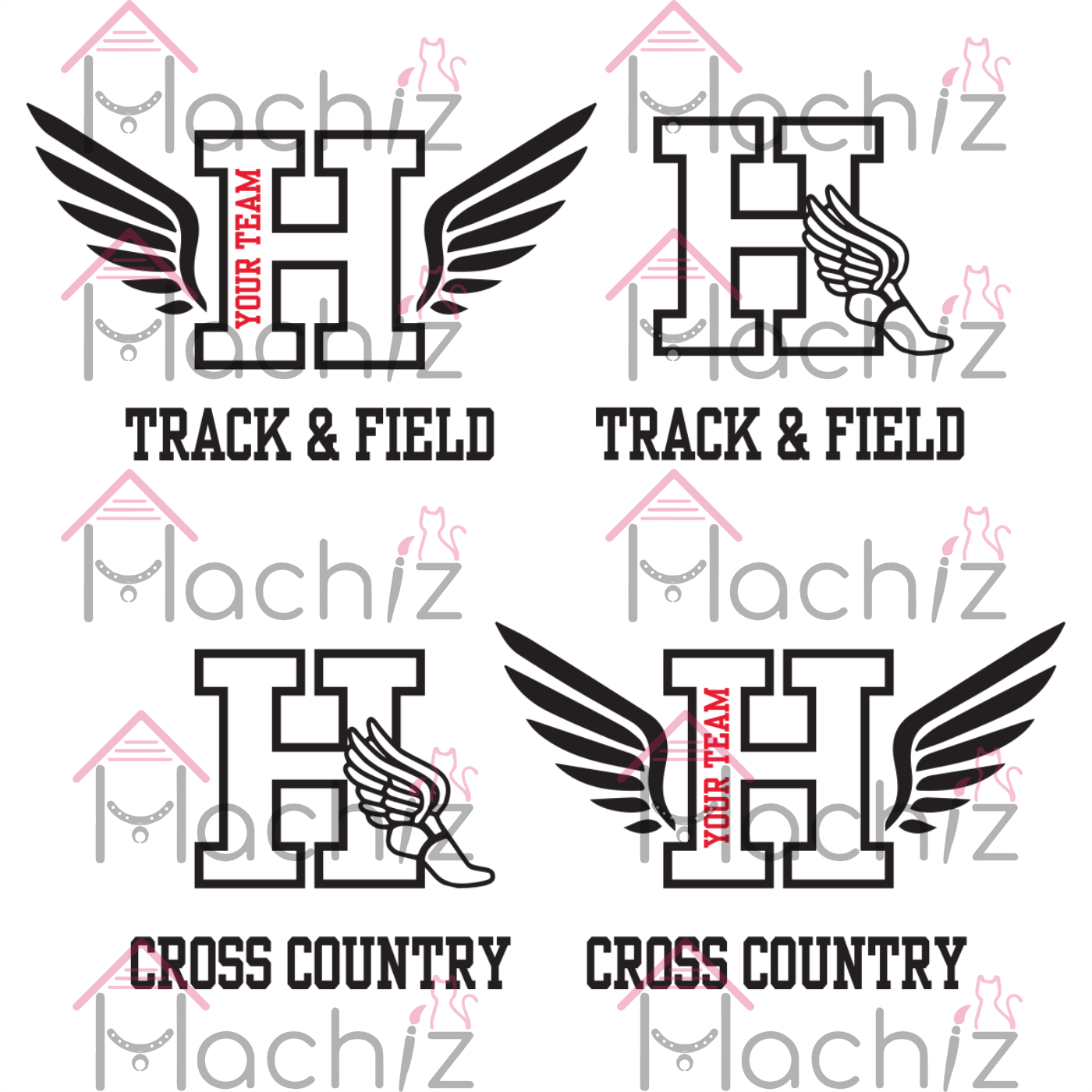 Track and Field SVG, Cross Country svg, Letter H svg, Track Wings svg, Track and Field shirt, Track and Field gift, Cross Country H svg, Cross Country shirt, Cross Country gift,