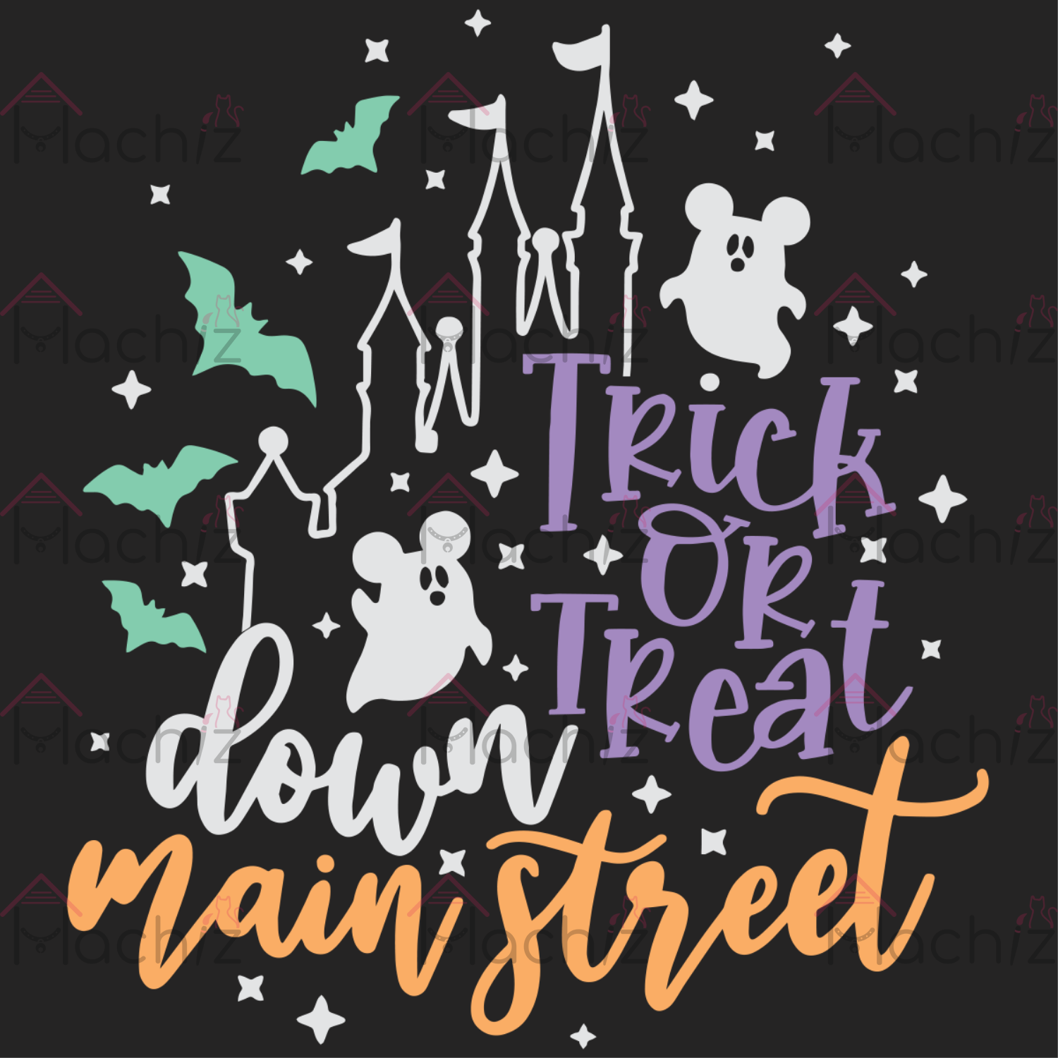 Trick or Treat Down Main Street Svg, Halloween Svg, Disney Halloween Svg, Halloween gift, Halloween shirt, happy Halloween day, Halloween svg file, Halloween party, Funny svg,